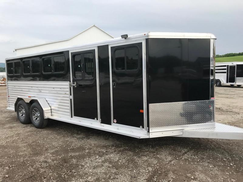 NEW 2019 Frontier Livestock Low Pro 7x20 (8 Pen) w/ DROP DOWN WINDOWS & 8 RED Powdercoated Pens