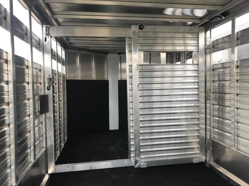NEW 2019 Frontier 7x16 Aluminum Stock Trailer