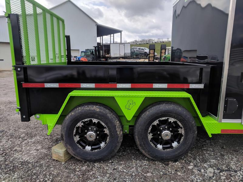 "NEW 2018 B-Wise 7x19 ""ULTIMATE"" Combo Dump/Cargo Trailer"