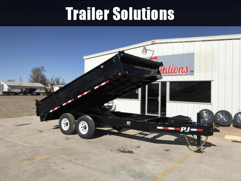 "2019 PJ 14' x 96"" with 10""I-Beam Deckover Dump Trailer"
