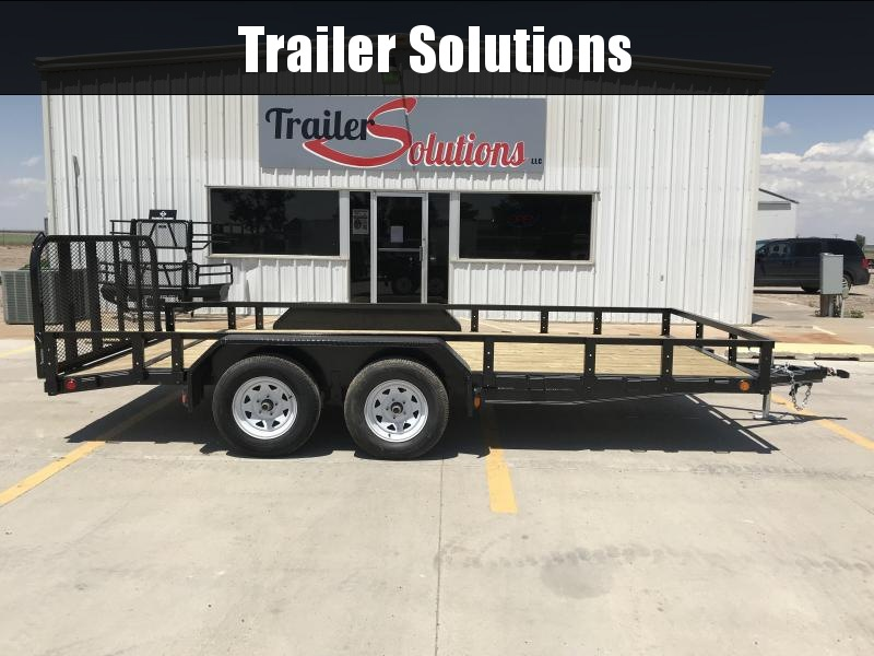 2019 PJ 16' x 83'' Tandem Axle Channel Utility Trailer