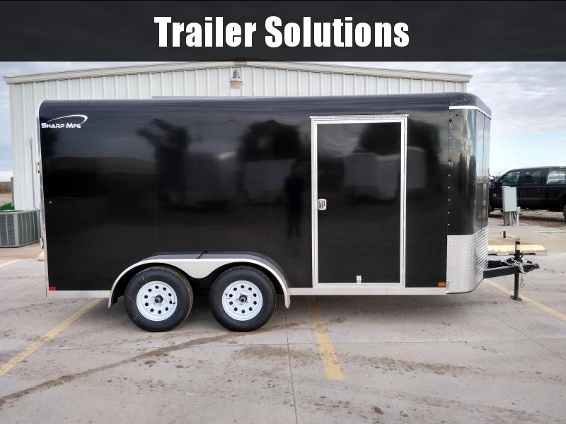 2019 Sharp 7 x 14 Tandem AxleEnclosed Trailer