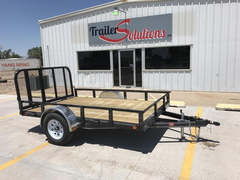 "2018 PJ 10' x 77"" Single Wheel Channel Utility Trailer"