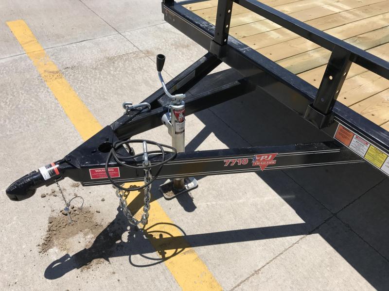 """2018 PJ 10' x 77"""" Single Wheel Channel Utility Trailer"""