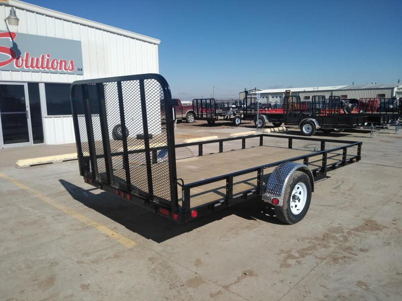 "2019 PJ 14' x 83""Single axle Channel Utility Trailer"