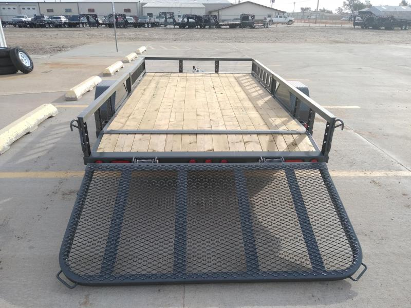 "2019 PJ 12' x 77"" Single Axle Channel Utility Trailer"