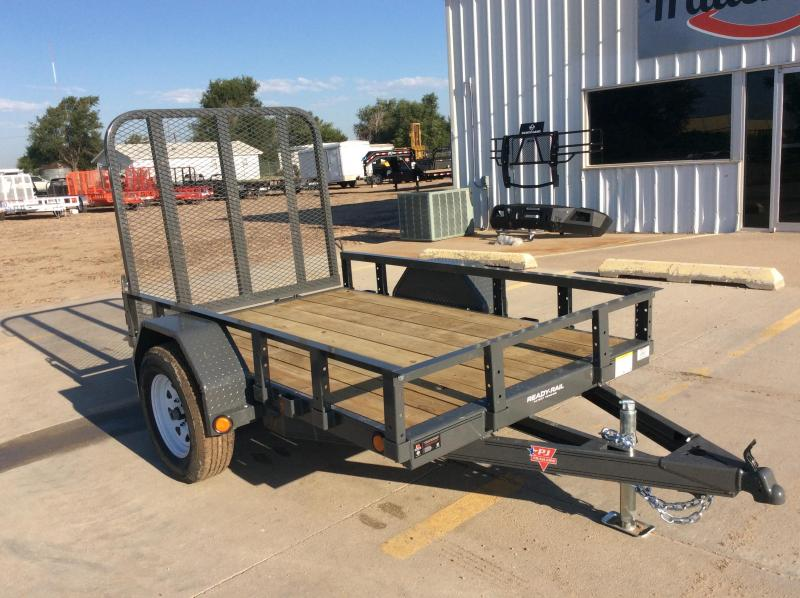 "2020 PJ 8' x 60"" Single Axle Channel Utility Trailer"