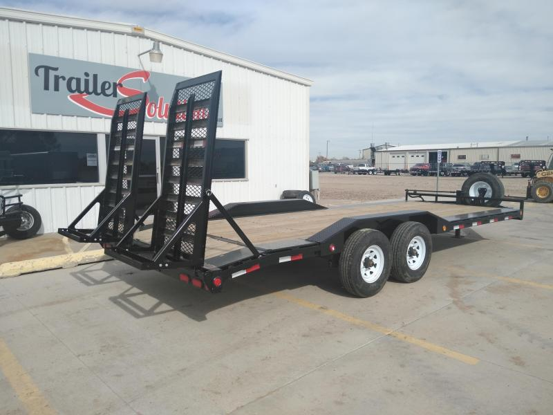 "2019 PJ 22' x 102""  with 8"" Pro-Beam Super-Wide Equipment Trailer"