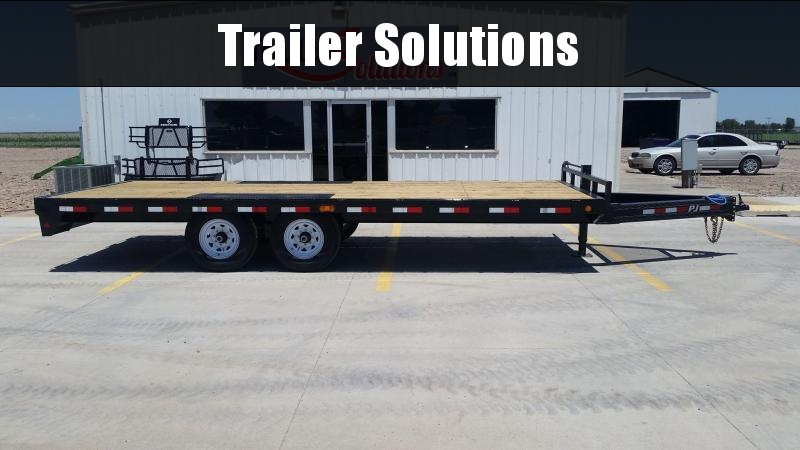 "2019 PJ 20' x 102"" with 8"" I-Beam Deckover Flatbed Trailer"