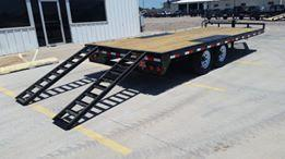 2019 PJ Trailers 8 in. I-Beam Deckover Flatbed Trailer