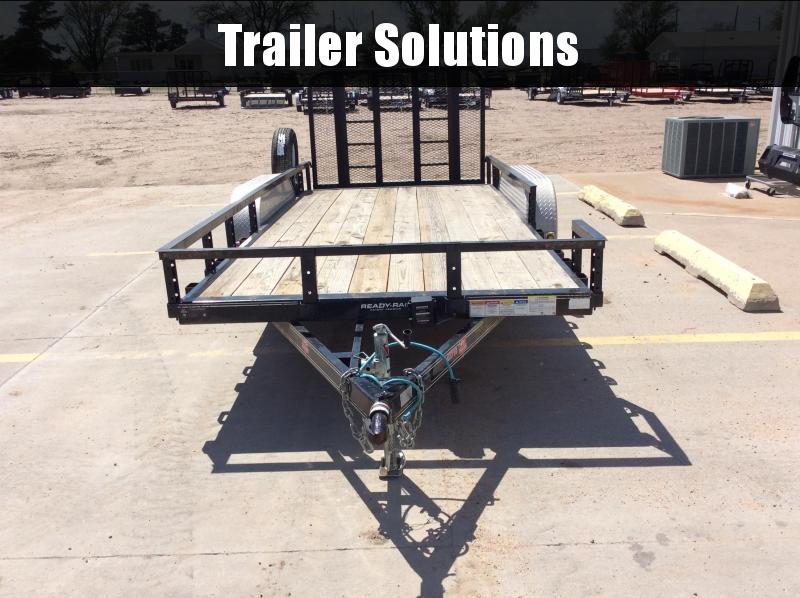 "2019 PJ 16' x 77"" Tandem Axle Channel Utility Trailer"