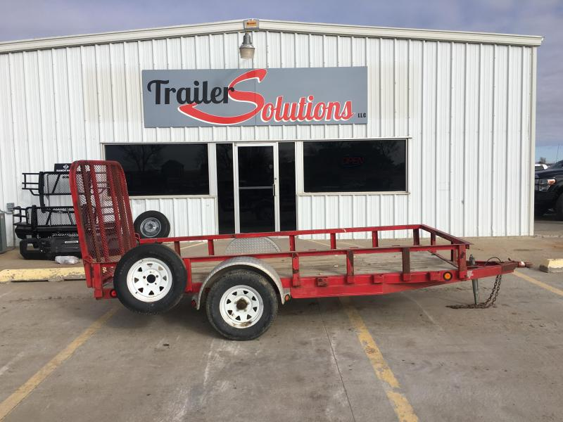 2007 PJ 5 x 12 Single Axle Channel Utility Trailer
