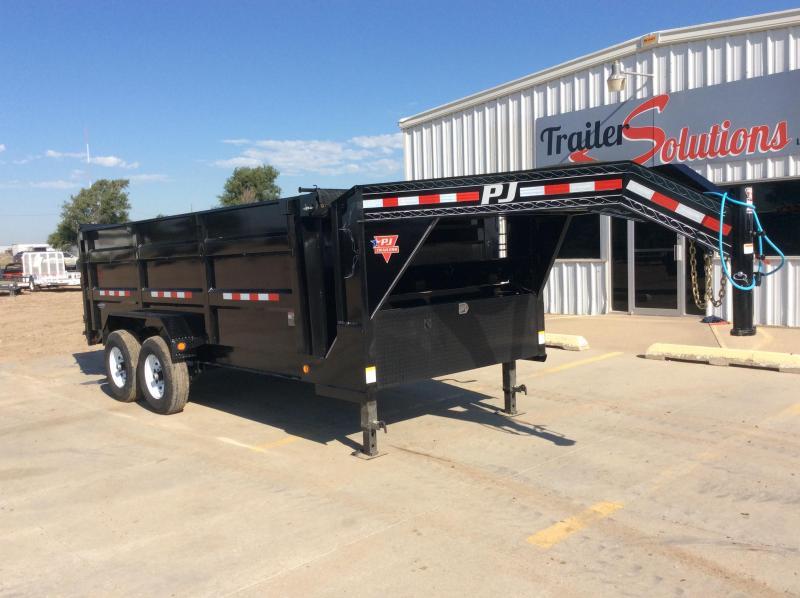 """2020 PJ 16' x 83"""" Low Pro High Side Dump Trailer"""