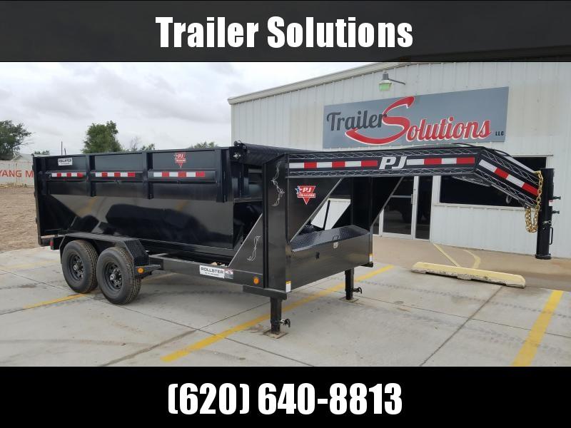 "2019 PJ 14' x 83"" Rollster Roll Off Dump Trailer With 2 Bins"