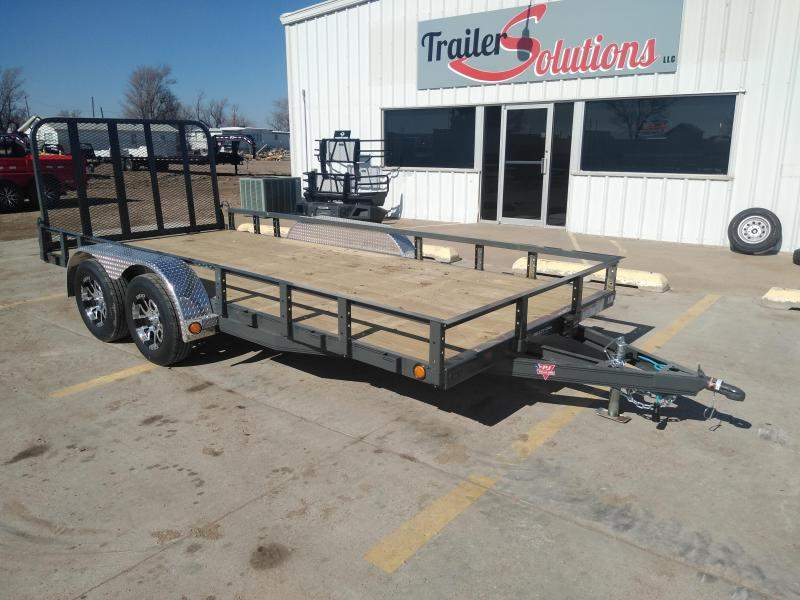 2019 PJ Trailers 83 in. Tandem Axle Channel Utility (UL) Utility Trailer