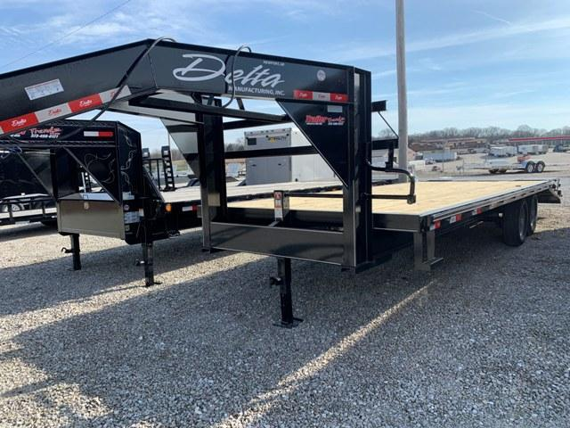 2019 Delta Manufacturing 102X25 GOOSENECK Flatbed Trailer