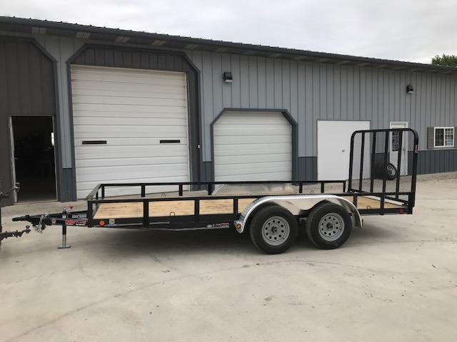 "2018 Load Trail 77X16 UT Utility Trailer 7K GVW TANDEM AXLE (4"" CHANNEL FRAME) 4' TUBE GATE SPRING ASSIST W/FRONT SIDE RAMPS SWIVEL JACK"