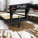 2019 Delta Manufacturing 102X25 Flatbed Trailer