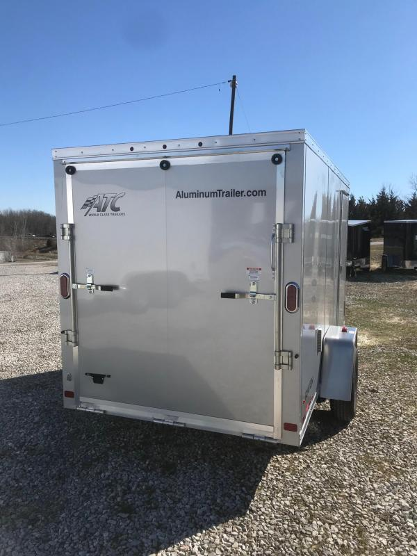 2018 ATC ALL ALUMINUM 6X12 Enclosed Cargo Trailer