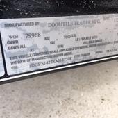 2019 Doolittle Trailer Mfg 77x14 Utility Trailer