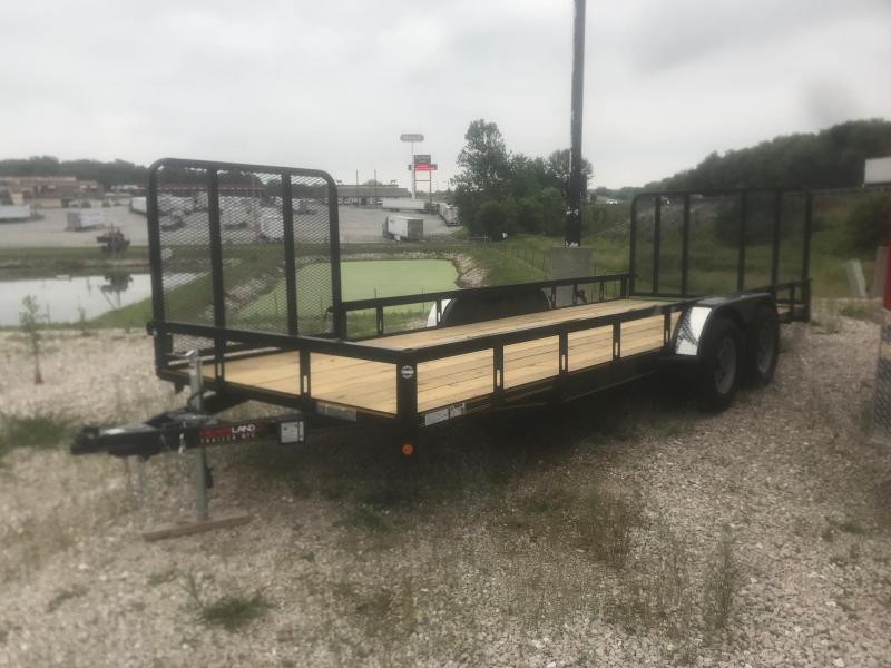 2019 Heartland 82x20 4 ft gate Utility Trailer