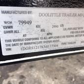 2019 Doolittle Trailer Mfg 66x12 Utility Trailer