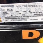 2019 Doolittle Trailer Mfg 66x10 Utility Trailer