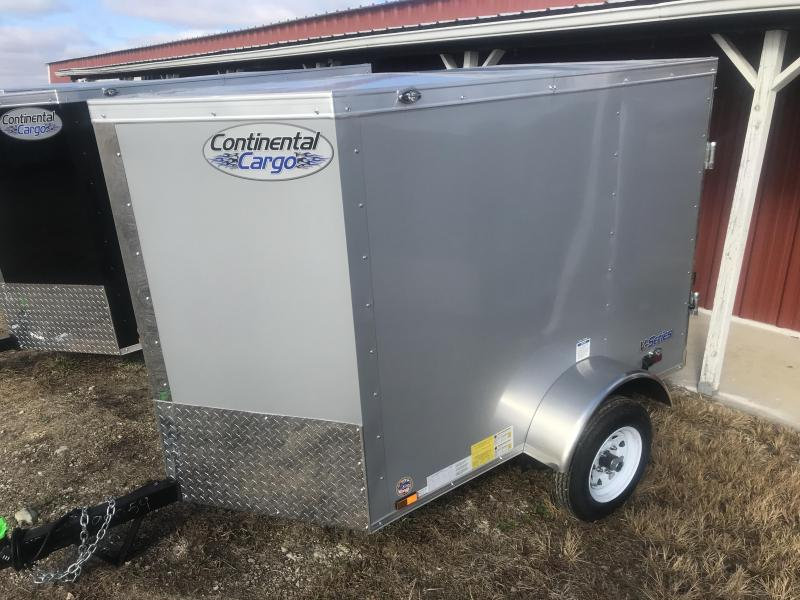 2019 Continental Cargo 4 x 6 Enclosed Cargo Trailer