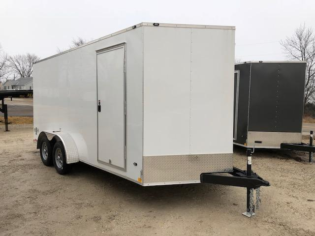 7X16 STEALTH MUSTANG SIDE/RAMP DOOR 6FT 6 TALL WHITE