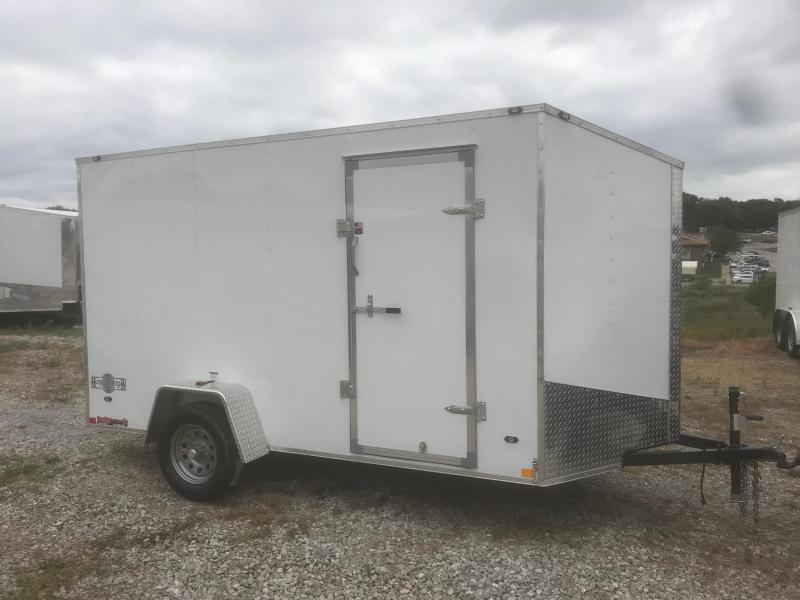 2019 Stealth Trailers 6X12 MUSTANG WHITE Enclosed Cargo Trailer