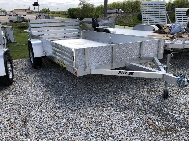 2020 Aluma 8112 SR Side Gate Bifold Gate Utility Trailer