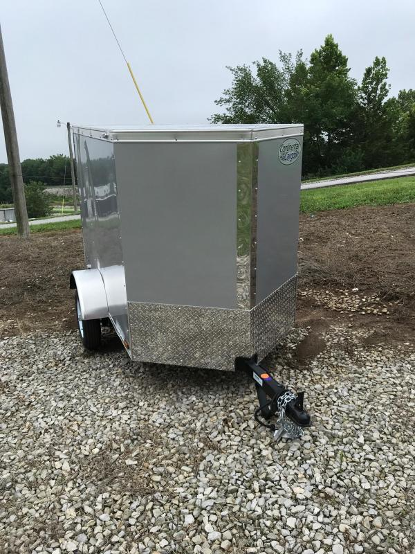 2020 Continental Cargo 4X6 CONTINENTAL CARGO V SERIES PEWTER Enclosed Cargo Trailer