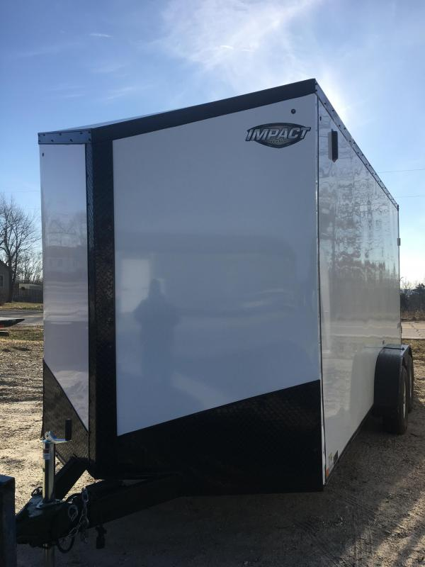 2019 Impact Trailers 7X16 Enclosed Cargo Trailer in Ashburn, VA