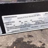 2019 Doolittle Trailer Mfg 60X8 Utility Trailer