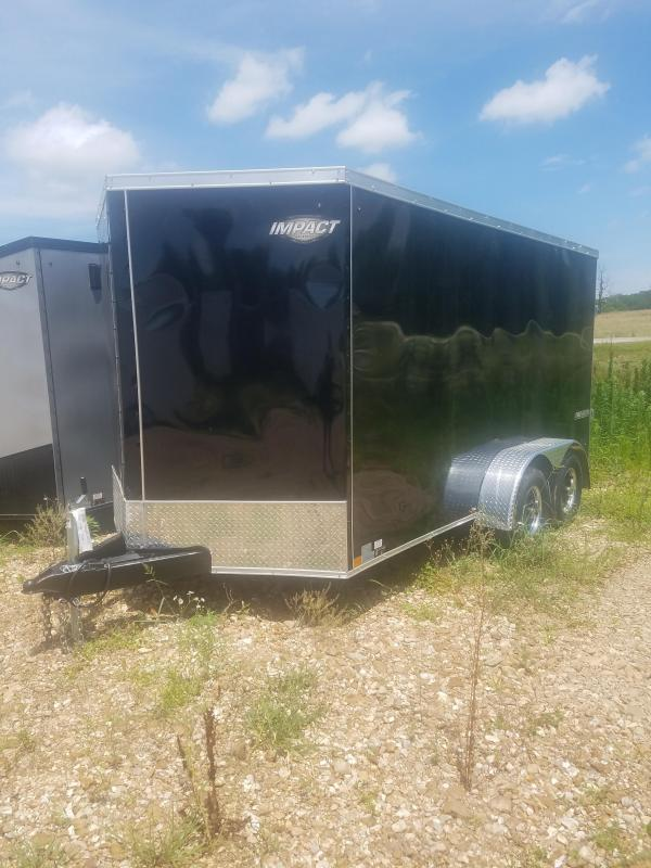 2019 Impact Trailers 7X14 IMPACT TREMOR RAMP DOOR SCREWLESS BLACK Enclosed Cargo Trailer in Ashburn, VA