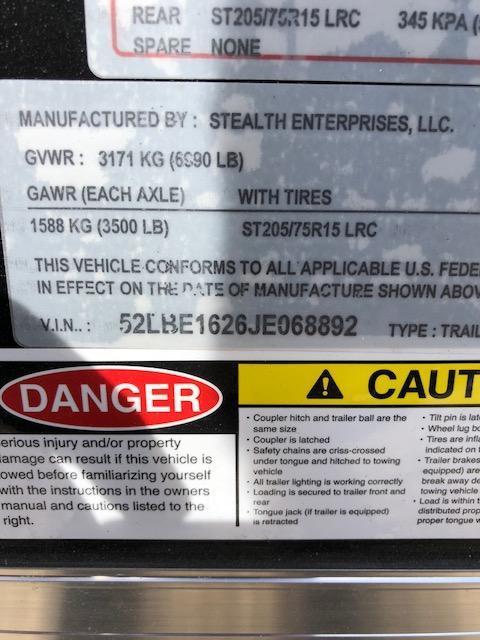 7X16 STEALTH MUSTANG SIDE/RAMP DOOR 6FT TALL BLACK
