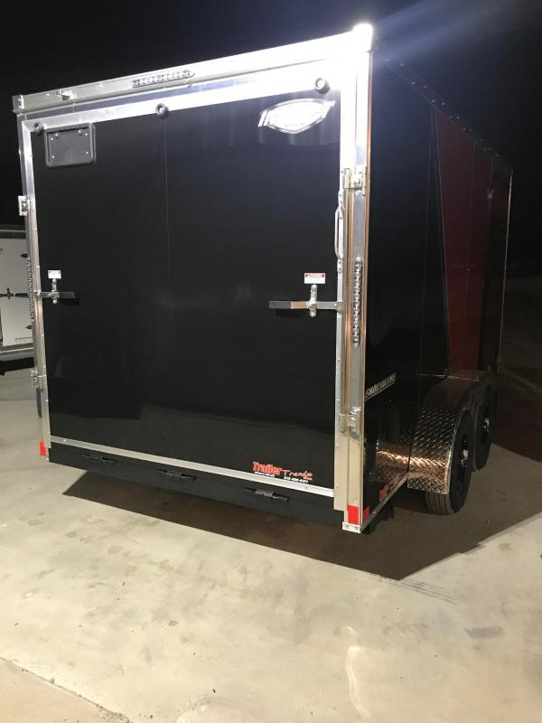 2019 Impact Trailers 7X14 RED/BLACK SHOCKWAVE Enclosed Cargo Trailer