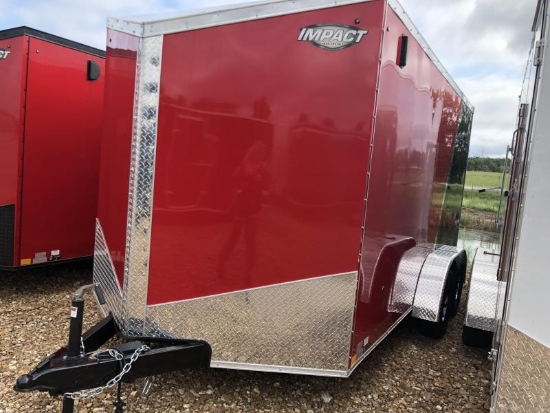 2019 Impact Trailers 7X14 RED/BLACK SHOCKWAVE Enclosed Cargo Trailer in Ashburn, VA