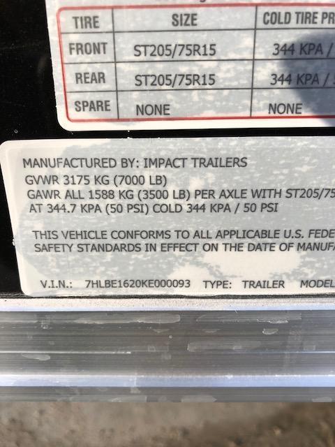 7X16 IMPACT TREMOR 6FT 6 TALL SCREWLESS BLACK