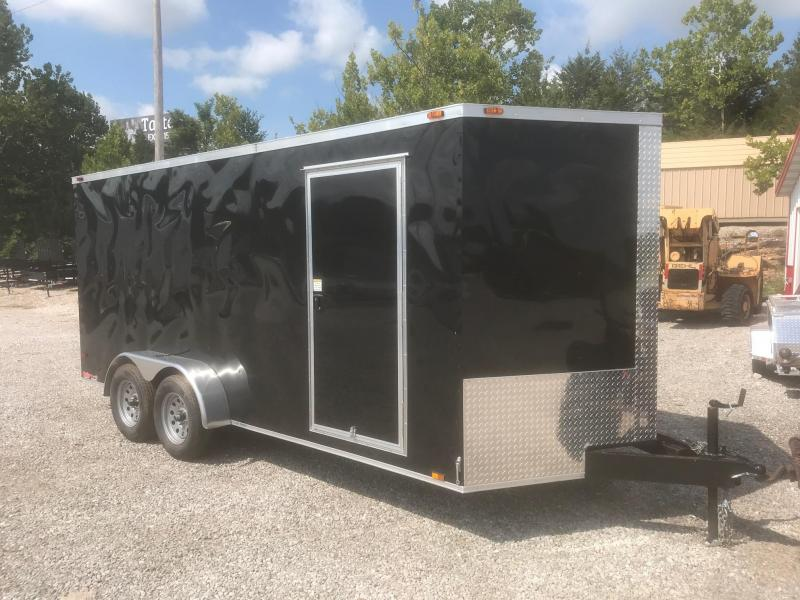 2018 TT 7X16 BLACK Enclosed Cargo Trailer