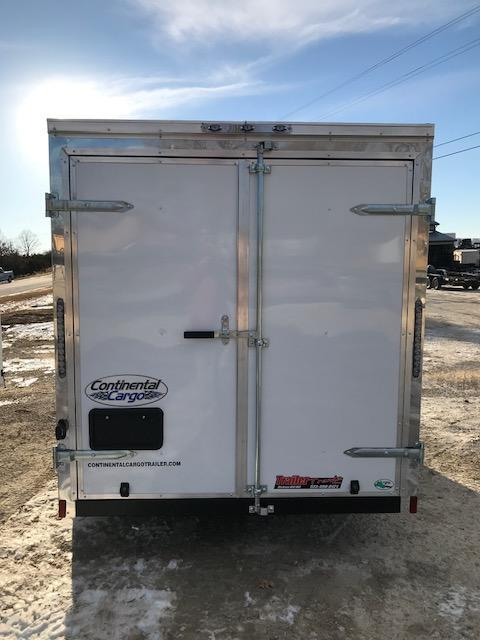 2018 Continental Cargo 6x10 SINGLE AXLE WHITE DOUBLE REAR DOOR Enclosed Cargo Trailer