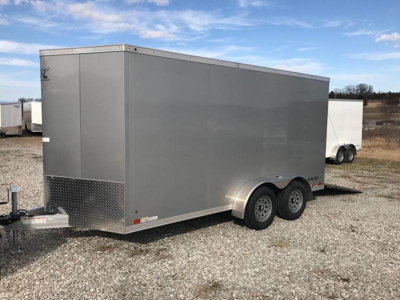 2018 Aluminum Trailer Company 7x14 RAMP DOOR ALL ALUMINUM FRAME Enclosed Cargo Trailer