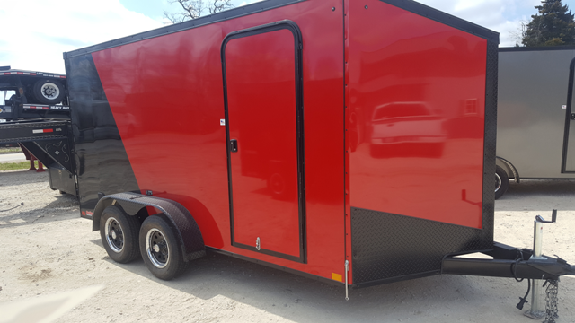 2019 Impact Trailers TREMOR RED / BLACK Enclosed Cargo Trailer in Ashburn, VA