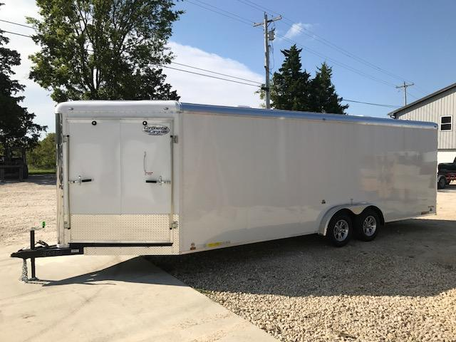 2018 Continental Cargo 7X28 SNOWKING SNOWMOBILE Enclosed Cargo Trailer