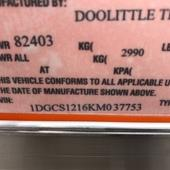 2019 DooLitttle Trailers 7X12 Enclosed Cargo Trailer