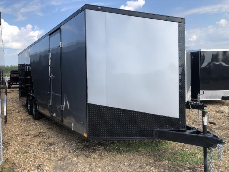 2019 Stealth Trailers 8.5X24 SILVER/BLACK TITAN Enclosed Cargo Trailer