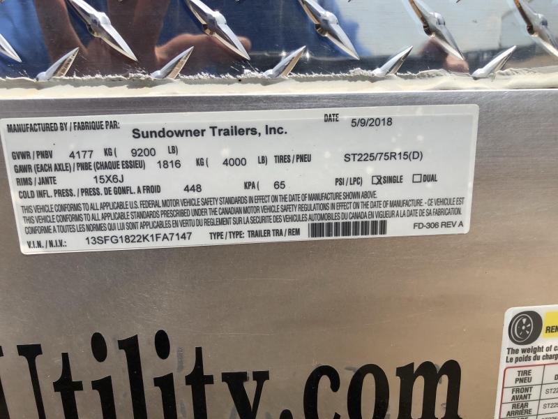 2019 Sundowner Trailers 81X18 SUNLITE CARHAULER Utility Trailer