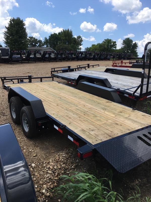 "2018 Load Trail 81.5"" X 16' Tandem Axle Tilt Deck Equipment Trailer"