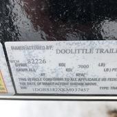 2019 Doolittle Trailer Mfg 84X18 CH Flatbed Trailer