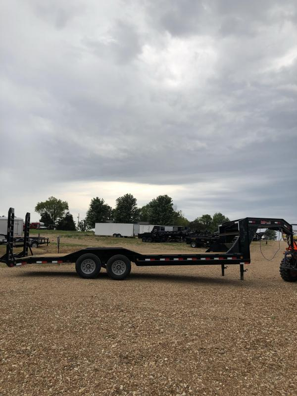 2019 Load Trail 102X24 LOADTRAIL GOOSENECK CARHAULER Flatbed Trailer